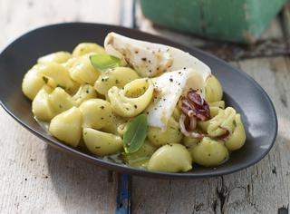 Ricetta: calamari con crema di patate