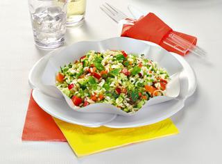 Insalata di riso alle verdure croccanti