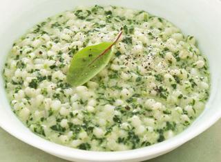 Orzotto con spinaci