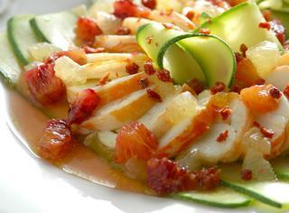 Ricetta: carpaccio di aragosta con zucchine e agrumi