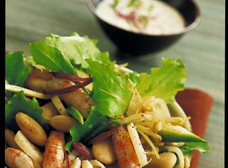 Ricetta: insalata di fagioli e gamberetti