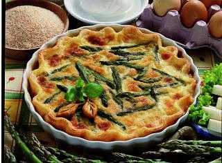 Quiche di asparagi e mozzarella