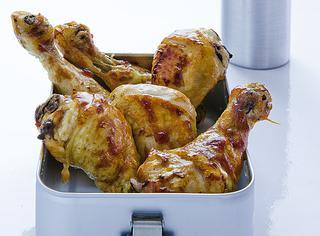 Cosce di pollo marinate