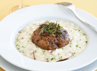 Ricetta: risotto mantecato con topinambur e porcini