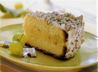 Torta Margherita con crema al torrone