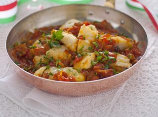 Ricetta: baccalà in umido con l'uvetta