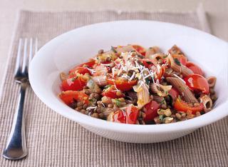 Ricetta: farro con lenticchie e pomodorini