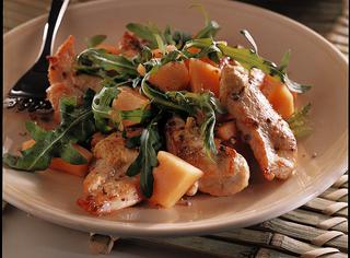 Ricetta: insalata di pollo e melone