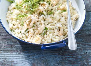 Come preparare il risotto gamberi e rucola