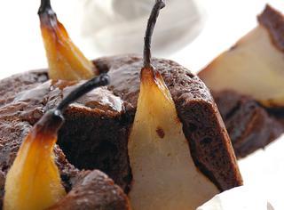 Torta di cioccolato e pere