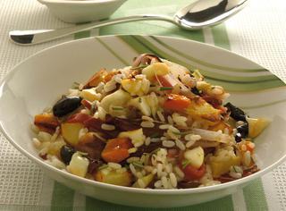 Come fare un'insalata di riso autunnale