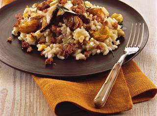 Ricetta: risotto alle castagne e funghi