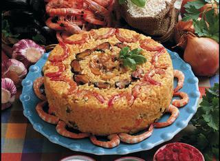 Sformato di riso ai frutti di mare