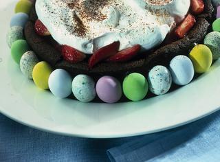 Torta al cioccolato con fragole