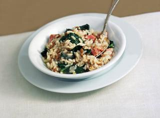Ricetta: risotto saporito con foglie di cavolo nero