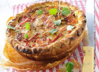 Ricetta Pie di peperoni e salame piccante