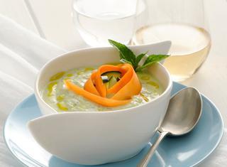 Ricetta Zuppa fredda di zucchine e yogurt