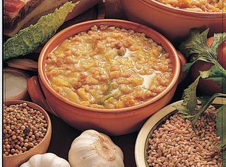 Ricetta Zuppa di cavolo bianco col farro