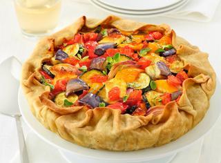 Torta salata con ratatuia