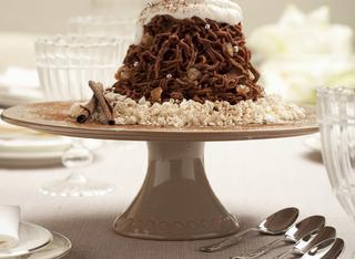 Montebianco di castagne al cioccolato