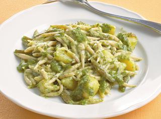 Ricetta Trofie al pesto con patate e fagiolini