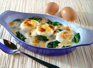 Uova gratinate con spinaci