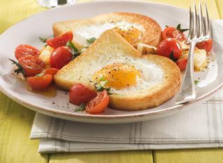 Uovo fritto nel pane