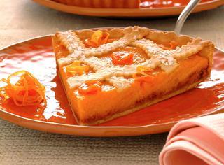 Crostata con crema di carote