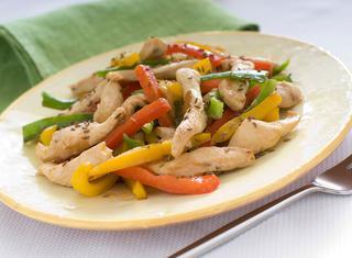 Ricetta Fajitas di pollo con peperoni e cumino