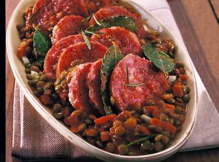 Cotechino classico con lenticchie