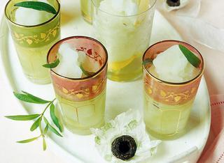Sorbetto di tè verde ed erba limoncina