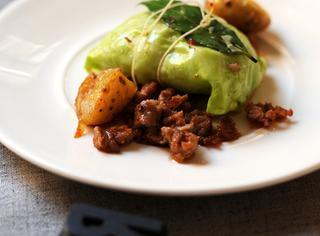Salsiccia con patate e verza