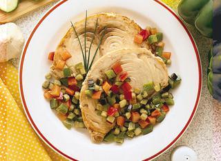 Pesce spada alle verdure