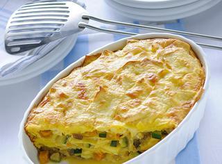 Ricetta Pasticcio di pasta con ragù di verdure