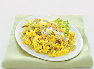 Ricetta Risotto giallo con carciofi in gremolada