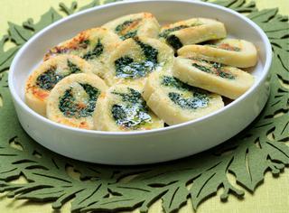 Rotolo di ricotta e spinaci al gratin