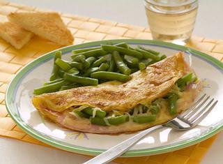 Ricetta Omelette con prosciutto cotto