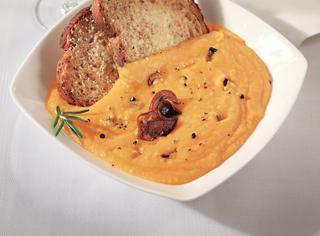 Ricetta Zuppa rustica di zucca e funghi