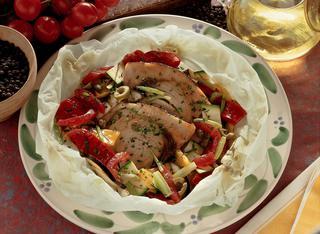 Ricetta Palombo alle verdure