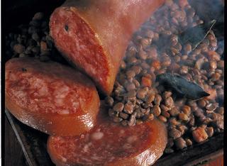 Lo zampone con lenticchie
