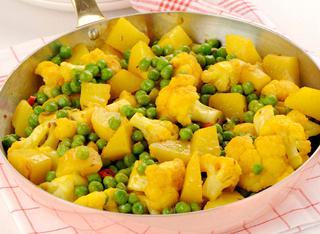 Ricetta Misto di legumi e verdure indiane in padella