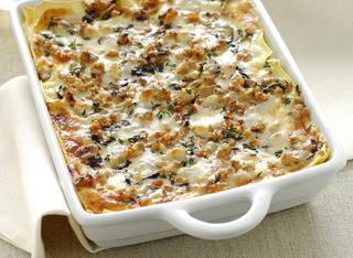 Ricetta Lasagne con ragù bianco e radicchio
