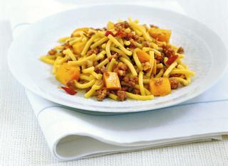 Ricetta Gramigna con zucca e salsiccia