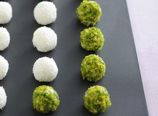 Ricetta Boules dolci di cocco e pistacchi