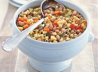 Ricetta Minestrone di verdure e borlotti con i ditalini
