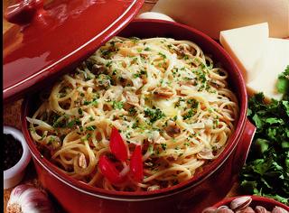 Spaghetti provolone e vongole