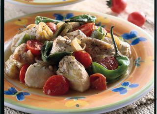 Spezzatino di pollo con peperoncini verdi