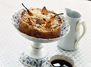 Ricetta Tortino di pane e cioccolato con pere e cannella