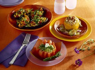 Pomodori con burrata e asparagi