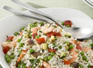 Ricetta Riso con verdure e gamberi